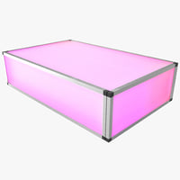 led illuminated coffee table 3d 3ds