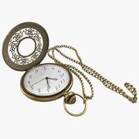 3dsmax pocket watch chain
