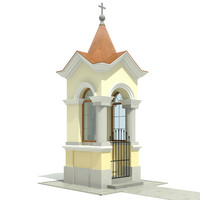 3ds max small chapel