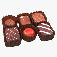 3d chocolates set 2