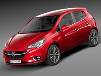 2015 5-door opel 3d 3ds