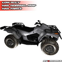 ATV quad bike (white)