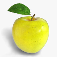yellow apple 3d max