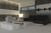 3d architecture interior room model