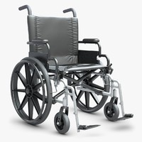 3d model wheelchair v-ray