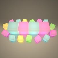 maya illuminated cube