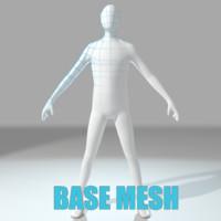 base mesh obj