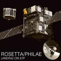 rosetta philae spacecraft 3d model