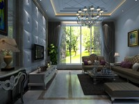 3d living room classical