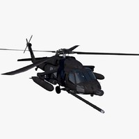 3d model uh-60 helicopter soar blackhawk