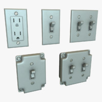 pack switches outlets 3d max
