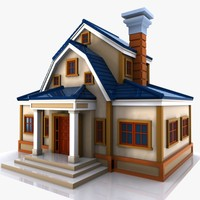 3d cartoon house toon model