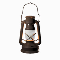 oil lamp lantern 3d 3ds