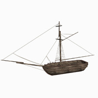 Ship one-masted sloop