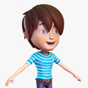 teen boy 3D models