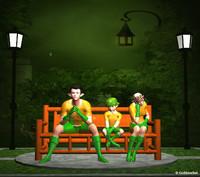3d model elf family