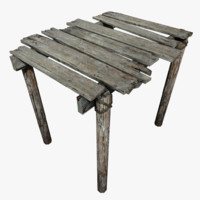 bridge wood 3d model