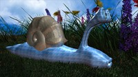 3dsmax snail cute cartoon