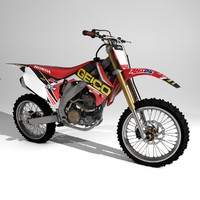 3d model 450cr-f mx geico team