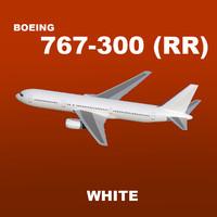 rolls-royce boeing 767-300 white max