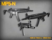 3d mp5n submachine gun model