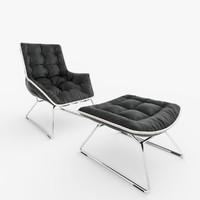 maserati lounge chair zanotta 3d max