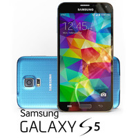 3ds max samsung galaxy s5 blue