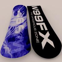 3d model snowboard fx