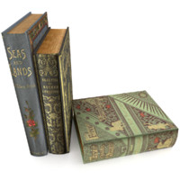 realistic book set 2 3d model