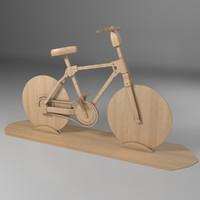 3dsmax wooden bike