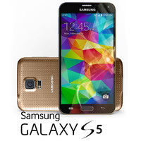 samsung galaxy s5 gold 3d 3ds