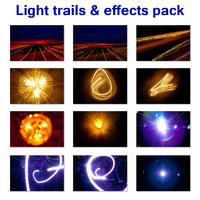 Light trails & effects pack (24 images)