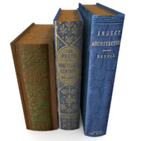 3d realistic book set 3