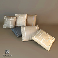 baker pillows 3d model