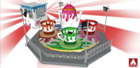 3d 3ds tea cup ride