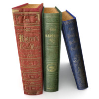 realistic book set 4 3d 3ds