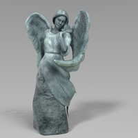 bronze statue angel obj
