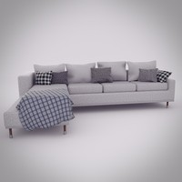 3d model simple couch