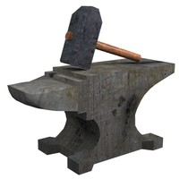 3d hammer anvil