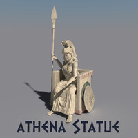 3d model of statue athena
