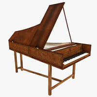 3d harpsichord model