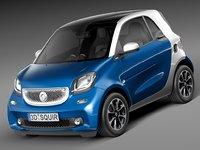 2015 smart fortwo 3d model