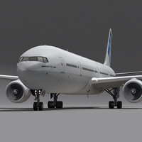 3d model boeing 777-300 plane generic