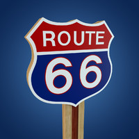3d max route 66 sign