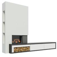 maya modern fireplace cabinet