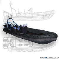 power boat 3d model