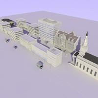 3d model shops street
