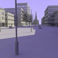 shops street 3d model