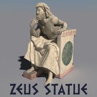 3d model statue zeus