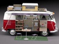 Volkswagen Camper Van 1950 Open